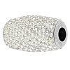 Swarovski 80921 BeCharmed Pave Column Bead 13mm Crystal Moonlight (2 Pieces)