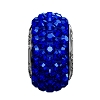 Swarovski 81101 BeCharmed Pave Slim Bead 13.5mm Majestic Blue (12 Pieces)