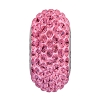 Swarovski 81101 BeCharmed Pave Slim Bead 13.5mm Rose (12 Pieces)