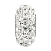 Swarovski 81201 BeCharmed Pave Slim Bead (Fancy Square) 13mm Crystal (12 Pieces)
