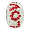 Swarovski 81732 BeCharmed Pave LOVE Bead 14.5mm Light Siam, White Opal, White (12 Pieces)