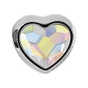 Swarovski 81951 BeCharmed Pave Heart Bead 14mm Crystal AB (12 Pieces)