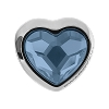 Swarovski 81951 BeCharmed Pave Heart Bead 14mm Denim Blue (12 Pieces)