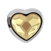 Swarovski 81951 BeCharmed Pave Heart Bead 14mm Crystal Golden Shadow (12 Pieces)
