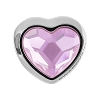 Swarovski 81951 BeCharmed Pave Heart Bead 14mm Rosaline (12 Pieces)
