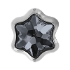 Swarovski 81961 BeCharmed Pave Edelweiss Bead 13.5mm Crystal Silver Night (12 Pieces)
