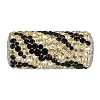 Swarovski 81982 BeCharmed Pave Zebra Bead 10mm Jet and Crystal Golden Shadow (2 Pieces)