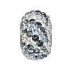 Swarovski 82023 BeCharmed Pave Air Bead 14.5mm Crystal Silver Night, Light Sapphire, Crystal Silver Shade (2 Pieces)