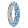 Swarovski 85001 Pave Thread Ring 1 Hole 18.5mm Aqua (6 Pieces)