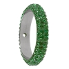 Swarovski 85001 Pave Thread Ring 1 Hole 14.5mm Dark Moss Green (6 Pieces)
