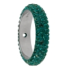 Swarovski 85001 Pave Thread Ring 1 Hole 18.5mm Emerald (6 Pieces)