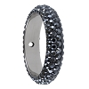 Swarovski 85001 Pave Thread Ring 1 Hole 18.5mm Jet Hematite (2 Pieces)