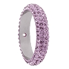 Swarovski 85001 Pave Thread Ring 1 Hole 14.5mm Light Amethyst (6 Pieces)