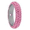 Swarovski 85001 Pave Thread Ring 1 Hole 18.5mm Light Rose (6 Pieces)