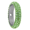 Swarovski 85001 Pave Thread Ring 1 Hole 14.5mm Peridot (6 Pieces)