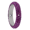 Swarovski 85001 Pave Thread Ring 2 Holes 14.5mm Amethyst (6 Pieces)