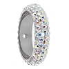 Swarovski 85001 Pave Thread Ring 2 Holes 18.5mm Crystal AB (2 Pieces)