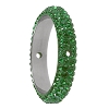 Swarovski 85001 Pave Thread Ring 2 Holes 14.5mm Dark Moss Green (6 Pieces)