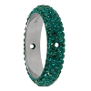 Swarovski 85001 Pave Thread Ring 2 Holes 16.5mm Emerald (6 Pieces)