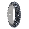 Swarovski 85001 Pave Thread Ring 2 Holes 18.5mm Jet Hematite (2 Pieces)