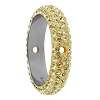 Swarovski 85001 Pave Thread Ring 2 Holes 16.5mm Jonquil (2 Pieces)
