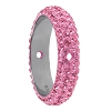 Swarovski 85001 Pave Thread Ring 2 Holes 14.5mm Light Rose (6 Pieces)