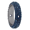 Swarovski 85001 Pave Thread Ring 2 Holes 18.5mm Montana (2 Pieces)