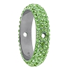 Swarovski 85001 Pave Thread Ring 2 Holes 14.5mm Peridot (6 Pieces)