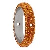 Swarovski 85001 Pave Thread Ring 2 Holes 14.5mm Topaz (2 Pieces)
