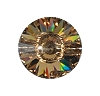 Swarovski 3015 Rivoli Button 10mm Light Colorado Topaz (72 Pieces)
