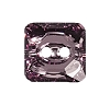 Swarovski 3017 Square Button 12mm Light Amethyst (48 Pieces)