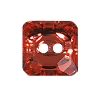 Swarovski 3017 Square Button 10mm Padparadscha (72 Pieces)