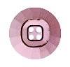 Swarovski 3018 Rivoli Button (4 Holes) 14mm Crystal Antique Pink Unfoiled  (48 Pieces)
