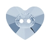Swarovski 3023 Heart Button 12x10.5mm Crystal Blue Shade (144 Pieces)