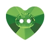 Swarovski 3023 Heart Button 12x10.5mm Dark Moss Green (144 Pieces)