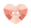 Swarovski 3023 Heart Button 12x10.5mm Rose Peach (144 Pieces)