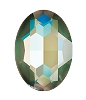 Swarovski 4127 Large Oval Fancy Stone 30x22mm Crystal Army Green DeLite