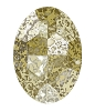 Swarovski 4127 Large Oval Fancy Stone 30x22mm Crystal Gold Patina