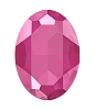 Swarovski 4127 Large Oval Fancy Stone 30x22mm Crystal Peony Pink