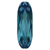 Swarovski 4161 Long Oval Fancy Stone 15x5mm Indicolite (72 Pieces)