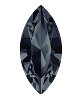 Swarovski 4228 Xilion Navette Fancy Stone 6x3mm Graphite (720 Pieces)