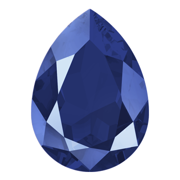 Swarovski Crystal Royal Blue Color 4320 Swarovski Pear Fancy Stone