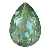Swarovski 4320 Pear Fancy Stone 14x10mm Crystal Silky Sage DeLite (144 Pieces)