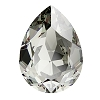 Swarovski 4320 Pear Fancy Stone 18x13mm Black Diamond