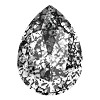 Swarovski 4320 Pear Fancy Stone 14x10mm Crystal Black Patina (144 Pieces)