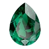 Swarovski 4320 Pear Fancy Stone 18x13mm Emerald