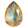 Swarovski 4320 Pear Fancy Stone 18x13mm Crystal Ochre DeLite