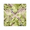 Swarovski 4418 Xilion Pointed Square Fancy Stone 6mm Crystal Luminous Green (216 Pieces)