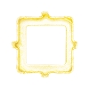 Swarovski 4428/S Xilion Square Fancy Stone Setting 8mm Gold Plated 4 Holes (144 Pieces)
