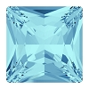 Swarovski 4447 Princess Square Fancy Stone 8mm Aqua (144 Pieces)